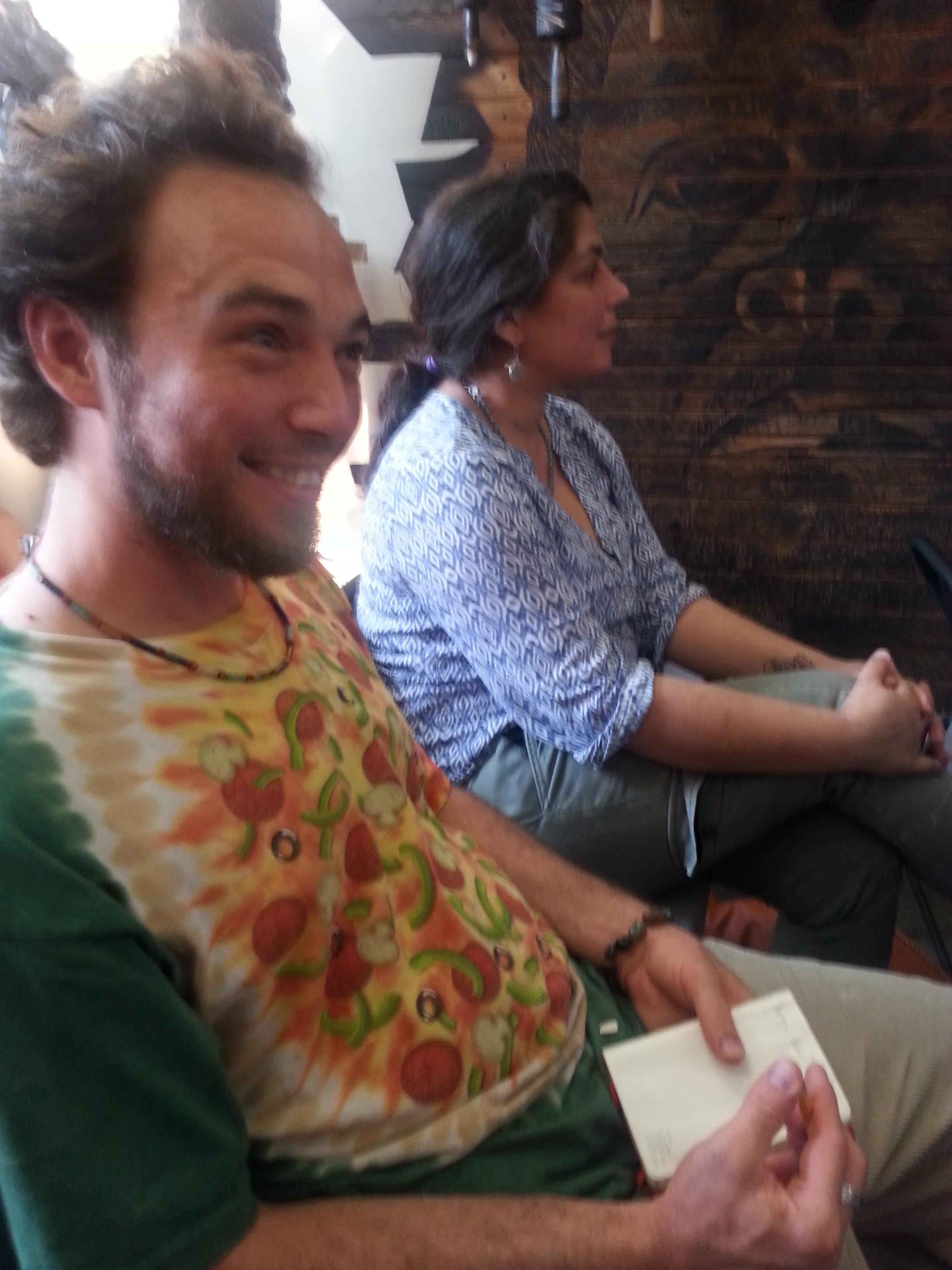 Sashi and Bret enjoying the company and poems